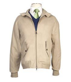 Men's+Beige+Harrington+Jacket+
