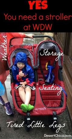 Yes You need a stroller at Walt Disney World WDW