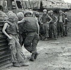 """The Bitter End - October 9, 1971 - Members of the U.S. 1st Air Cavalry Division refuse an assignment to go out on patrol by expressing """"a desire not to go."""" This is one in a series of American ground troops engaging in """"combat refusal."""" ~ Vietnam War"""