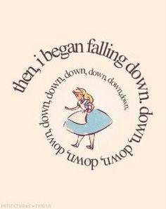 then,  i began falling down...