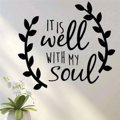 It is well with my soul quotes vinyl wall sticke Car Stickers Decal God faith Jesus salvation hope decor bedroom decorative word Wall Stickers Wallpaper, Diy Wall Stickers, Wall Decal Sticker, Fridge Stickers, Car Stickers, Yeti Stickers, Vinyl Wall Quotes, Vinyl Art, Vinyl Decals