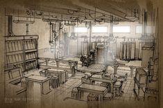 Artes da produção de Monsters University, por Robert Kondo | THECAB - The Concept Art Blog