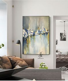 City Abstract Painting Artworks Cityscape Original Painting On Canvas