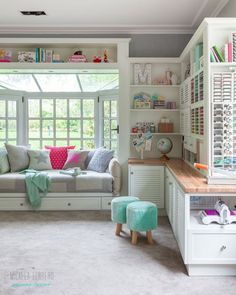 Related posts: Craft Room Tour: My Organization and Storage Projects Craft Storage Ideas-this website has different ideas of storing smaller craft it… Craft Room Organization & Storage Ideas Discover 17 Ingenious Craft Room Storage Solutions! Craft Room Design, Craft Room Decor, Bedroom Decor, Home Decor, Craft Space, Craft Room Lighting, Decorating Bedrooms, Space Crafts, Room Decorations