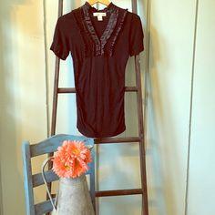 Selling this Love Notes black shirt in my Poshmark closet! My username is: urbanyoke. #shopmycloset #poshmark #fashion #shopping #style #forsale #Tops