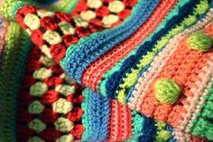 love this stripe blanket...great stash buster!