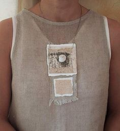 AMALTHEE CREATIONS paper and linen necklace