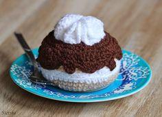 Sietske's Hobby's: Moorkop, #haken, gratis patroon, Nederlands, amigurumi, gebak, voedsel