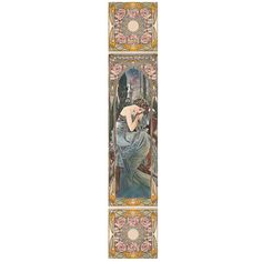 Need Art Deco tiles for your fireplace? Then check out the Alphonse Mucha Nocturnal Slumber Decorated Tile Set, faithfully recreated from Mucha's portraits. Art Deco Fireplace, Fireplace Stores, Tile Fireplace, Art Nouveau Wallpaper, Art Deco Tiles, Victorian Fireplace, Victorian Dolls, Fireplace Inserts, Fireplace Accessories