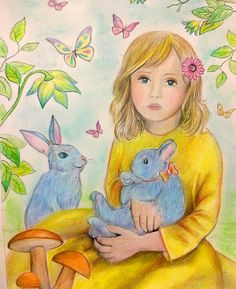 """Coloring by fans. Artist Alena Lazareva Grayscale Coloring book """"Fantasy World"""" Available on Amazon http://www.amazon.com/dp/154518769X"""