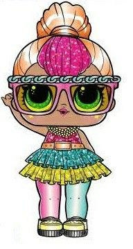 Fancy Glitter LOL Surprise Doll Coloring page Kate's 7th