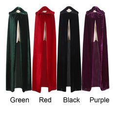 Witch Long Cloaks Hood and Capes Halloween Costumes for Women and Men