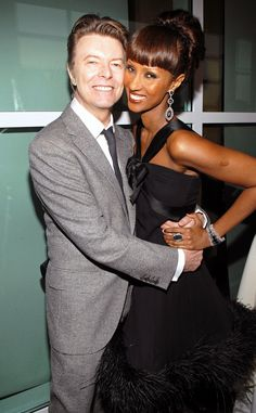 """David Bowie, Iman    """"Sometimes you will never know the true value of a moment until it becomes a memory."""""""