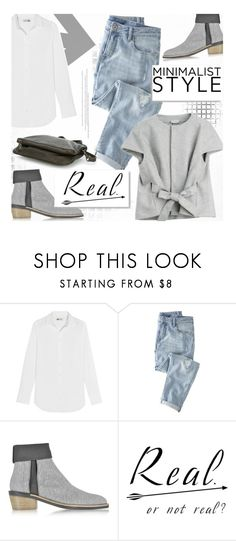 """""""Minimal Trend:: Gray"""" by sweetestdreamer ❤ liked on Polyvore featuring J.Crew, Wrap, Philosophy di Alberta Ferretti, Liebeskind and Zoe Lee"""