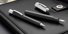 Ondoro Graphite Black fountain pens, ballpoint pens, rollerballs and mechanical pencils