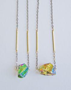 Odyssey Titanium Quartz Necklace | Eclectic Eccentricity Vintage Jewellery