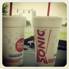 Stop in for Happy Hour at SONIC from 2-4PM everyday!