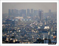 Beaubourg - Front de Seine Paris Skyline, New York Skyline, Tours, San Francisco Skyline, Travel, Viajes, Destinations, Traveling, Trips