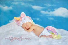RTS. FREE Shipping! My Little Pony / Unicorn Newborn Crochet Outfit. Photographed by Krystal Fabyan