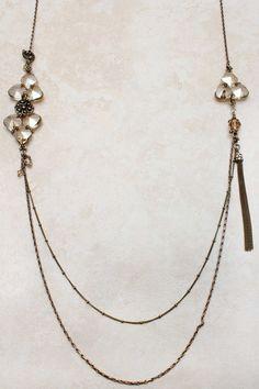 Swarovski Champagne Crystal Andrea Necklace | Emma Stine Jewelry
