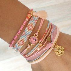 DIY Pastel Bracelets