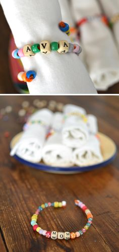 kid made napkin rings for your Thanksgiving table