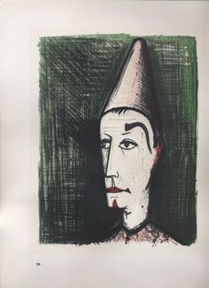bernard buffet 1967 lithograph in color by dumpstersbarn on Etsy, $45.00