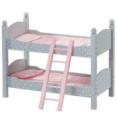 Olivia's Little World 18-Inch Doll Double Bunk Bed Furniture Set, Multicolor