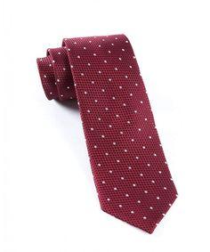 a2ae1c6c0e4e6 100% Woven Silk Burgundy Solid Textured Grenafaux Dots 2 1/2 Inch Tie -  C211F5ZSXI3