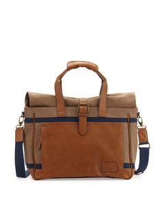e13b49689ad Original Penguin Men's Canvas/Leather Weekender Bag, Rubber Duffle, Duffel  Bags, Messenger