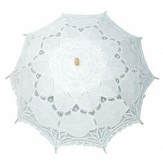 Belle Lace Parasol - White