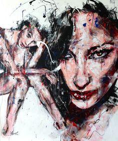 T173 Acrylique & fusain sur toile 120x100cm http://www.lucile.callegari.fr