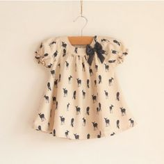 Vintage Inspired Girls Clothes Vintage Inspired deer Top For Toddler Girls | Vindie Baby// for Andrea