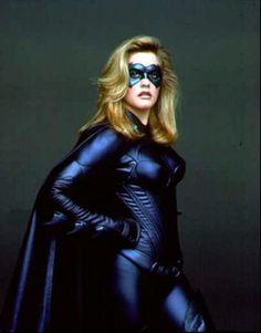 "Publicity shot of Alicia Silverstone as Batgirl in ""Batman and Robin"" - 1997."