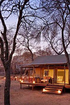Abelana Safari Camp in 'n kamp in die Abelana Wildreservaat, 'n 15 000 hektaar Groot 5-reservaat langs die Groter Krugerwildtuin naby Phalaborwa in die Laeveld. Dit is Suid-Afrika se top-grootwildstreek. Die kamp is klein en bied slaapplek in 5 Meru-styl tente. Die tente is verhewe en in 'n afgesonderde deel aan die suidelike punt van die reservaat geleë. Die tente skuil tussen pragtige granietkoppies en daar is 'n uitsig oor die watergat en die bosveld vanaf die groot dek. Safari, Tent, Camping, House Styles, Campsite, Store, Tents, Campers, Tent Camping