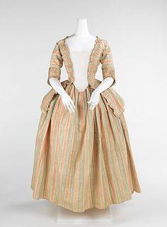 Dress, silk, French, ca 1775