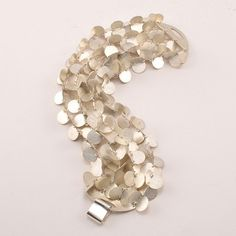 "Enric Majoral Bracelet, ""Papallones,"" Sterling Silver, 7.5"" long, 1.75"" wide"