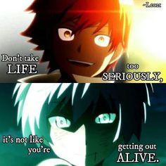 karma and nagisa can be creepy but hot Diy Quotes, Karma Quotes, Tokyo Ghoul Quotes, Classroom Memes, Nagisa And Karma, Sad Anime Quotes, Art Manga, Anime Art, Savage Quotes