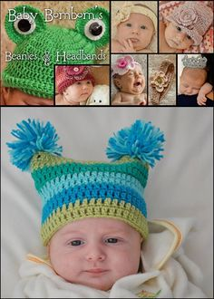 Creative and Funky looking headbands and Beanies