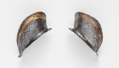 Attributed to Desiderius Helmschmid | Two Ear Guards from a Shaffron of Emperor Charles V (1500–1558) | German, Augsburg | The Met