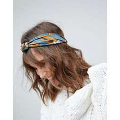 ASOS Floral Knot Headband (€7,99) ❤ liked on Polyvore featuring accessories, hair accessories, multi, asos hair accessories, elastic headbands, asos, floral hair accessories and knotted headband