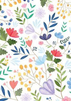 Flower Wallpaper, Pattern Wallpaper, Wallpaper Backgrounds, Desktop Wallpapers, Surface Pattern Design, Pattern Art, Print Patterns, Flower Pattern Design, Pastel Pattern