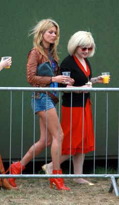 Kate Moss and Kelly Osbourne during O² Wireless Festival 2006 - London - Day 1 - June 2006 at Hyde Park in London, Great Britain. Ella Moss, Lila Grace Moss, Kelly Osbourne, Serge Gainsbourg, Hyde Park, Leather Jacket Dress, Moss Fashion, Kate Moss Style, Vogue