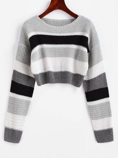 Jersey Casual, Mini Vestidos, Body Size, Cropped Sweater, Shoulder Sleeve, Body Shapes, Types Of Sleeves, Daily Fashion, Color Blocking