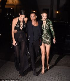 Who made the most impact: While Kendall, 19, flaunted her bare chest and underwear in her racy black outfit, Gigi showed off her endless legs