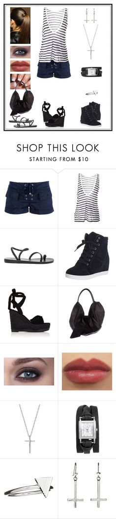 """Untitled # 672"" by binasa87 ❤ liked on Polyvore featuring Dondup, T By Alexander Wang, Ancient Greek Sandals, Kendall + Kylie, Valentino, Bloomingdale's, La Mer and Rachel Jackson"