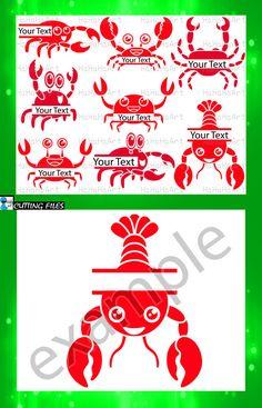 d6f53e7e0 Split Crabs Monogram Red - Cutting Files Svg Png Jpg Eps Dxf Jpeg Digital Graphic  Design Crab Lobster Cancer Commercial Use (00542c)