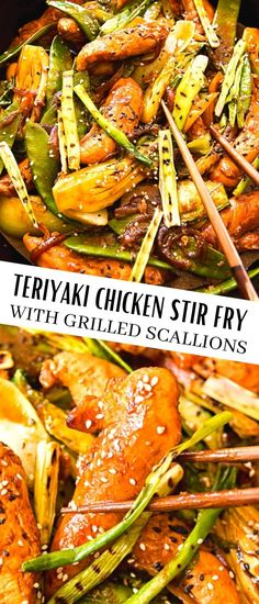 This teriyaki chicken stir fry is bursting with bold flavours of smoky grilled scallions, fresh bok choy, snow peas and yellow peppers. Chicken breast strips marinated overnight add a depth of flavour and a healthy protein boost.