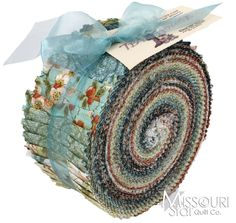 Tea House Teal Jelly Roll for Benartex Fabrics SKU from Missouri Star Quilt Co.