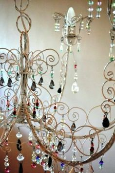 Chandeliers made with wire and crystal beads